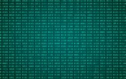 Digital binary data and streaming binary code background. Matrix background with digits 1.0. Vector illustration stock illustration