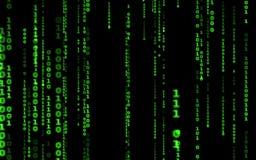 Computer code falling matrix style. stock illustration