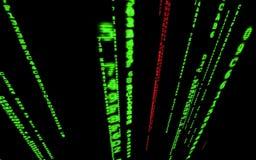 Computer code falling matrix style. stock video