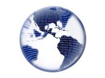 Digital Binary Earth Globe Stock Photos