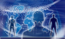 Digital binary identity man Royalty Free Stock Photography