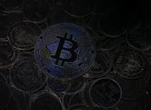 Digital Bitcoin Royalty Free Stock Images