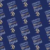 Digital Bitcoin cryptographique illustration stock