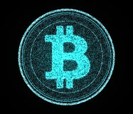Digital Bitcoin Stock Photos