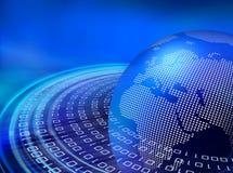 Digital-blaue Datenbahnen lizenzfreie abbildung