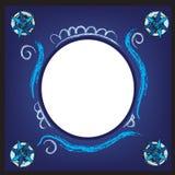Digital-blauer Bilderrahmen Stockfotografie