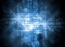 Digital blaues backgound Stockbilder