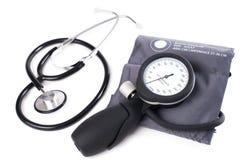 Digital blodtryckbildskärm för högt blodtryck - Tonometer Materiel I Arkivfoton
