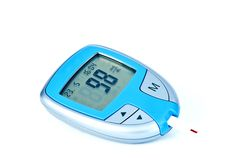 Digital blood glucose meter Royalty Free Stock Photography