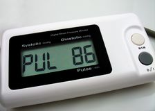 Digital blood preasure monitor royalty free stock photo