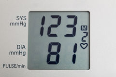 Digital Blood Pressure Stock Images