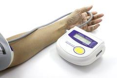 Digital Blood Pressure. Blood pressure gauge show blood pressure normal Stock Image
