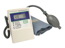 Digital blood pressure gauge Royalty Free Stock Photography