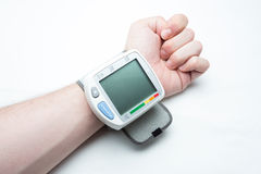Digital blood pressure isolated Royalty Free Stock Photo
