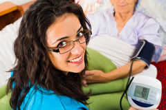 Digital Blood Pressure Measure Stock Images
