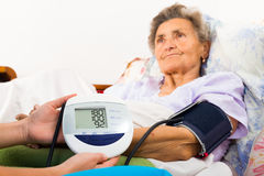 Digital Blood Pressure Measure Stock Photography