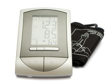 Digital blood pressure measurement equipment Royalty Free Stock Images