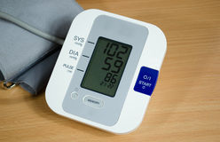 Digital blood pressure measurement equipment Royalty Free Stock Photos