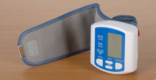 Digital blood pressure meter Royalty Free Stock Images