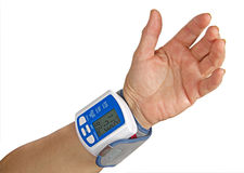 Digital blood pressure meter Stock Images