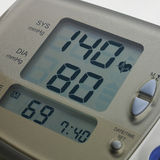 Digital blood pressure meter Stock Photos
