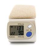 Digital blood pressure monitor Stock Photo