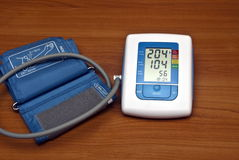 Digital blood pressure monitor. Tols Royalty Free Stock Image