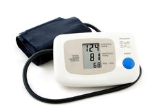 Digital blood pressure monitor Stock Image