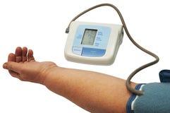 Digital blood pressure monitor Royalty Free Stock Photos