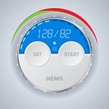Digital blood pressure monitor display stock illustration