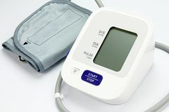 Digital Blood Pressure Monitor, Medical and examining equipment. Stock Image