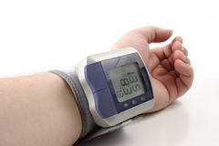 Digital blood pressure monitor Royalty Free Stock Photos