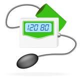 Digital Blood Pressure Monitor. Vector Illustration Stock Photos