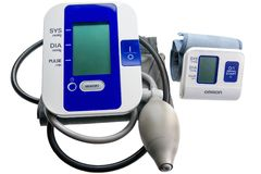 Digital blood pressure monitors Stock Images
