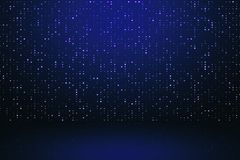 Digital blue background. With sparkle mesh circuit. 3D Rendering stock illustration