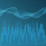 Digital blue equalizer background Stock Photos