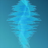 Digital blue equalizer background Stock Photos