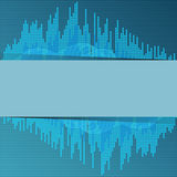 Digital blue equalizer. Royalty Free Stock Photography