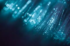 Digital blue light fiber optic for background. Stock Photography