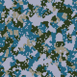 Digital blue navy camo Royalty Free Stock Photo