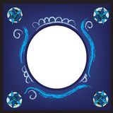 Digital Blue Picture Frame Stock Photography