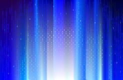 Digital blue rays. Royalty Free Stock Photo