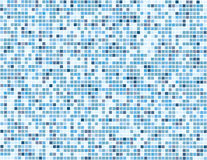 Digital blue squares - vector. Vector - mosaic of square tiles in subtle blue colors with random distribution Royalty Free Stock Images
