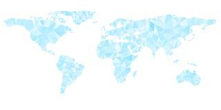 Digital blue world map is shining diamond Royalty Free Stock Photography