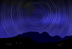 Digital blurred starry sky at night Stock Photo