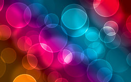 Digital bokeh. Colorful digital bokeh effect illustration Stock Image