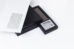 Digital bokstavsskala Arkivfoton
