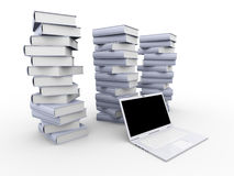 Digital Books Royalty Free Stock Photography