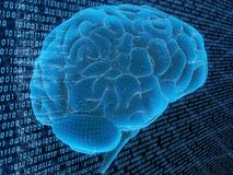 Digital  brain Stock Images