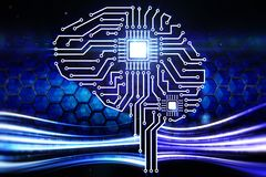 Digital brain Royalty Free Stock Photo